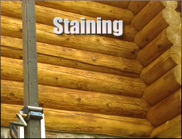 Log Home Staining  Lunenburg County, Virginia